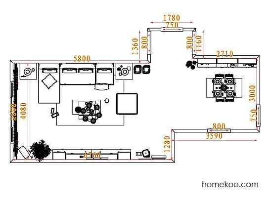 平面布置图乐维斯系列客餐厅G7436