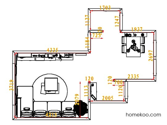 平面布置图贝斯特系列客餐厅G7440