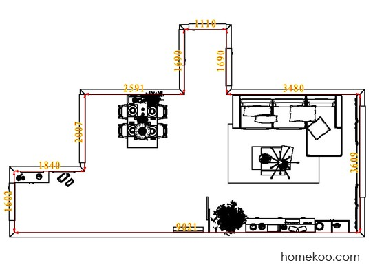 平面布置图斯玛特系列客餐厅G7442