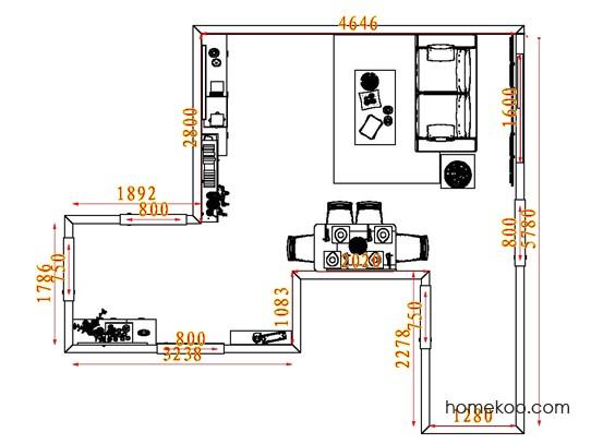 平面布置图乐维斯系列客餐厅G7446