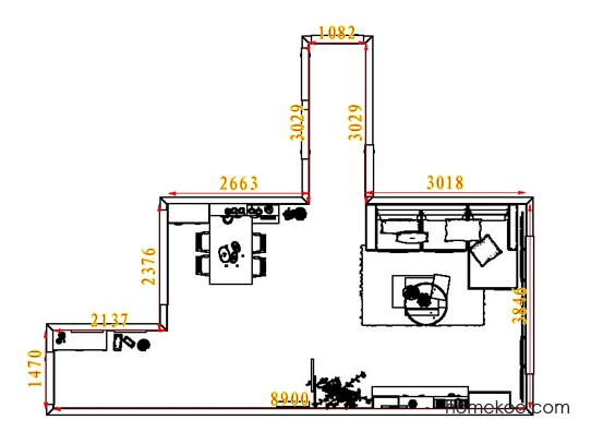 平面布置图格瑞丝系列客餐厅G7459