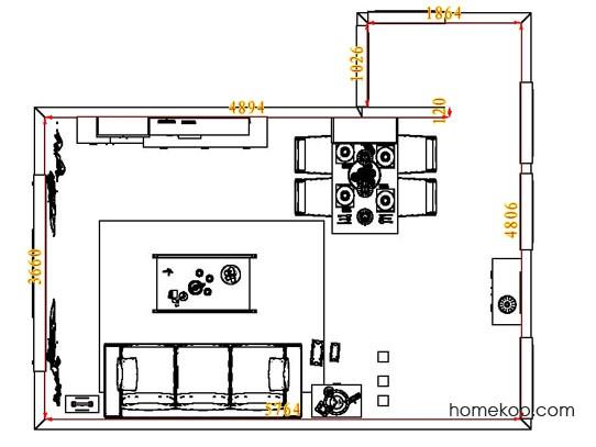 平面布置图德丽卡系列客餐厅G7462