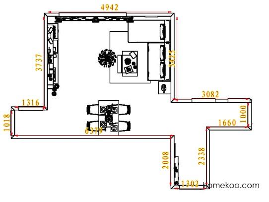 平面布置图格瑞丝系列客餐厅G7463