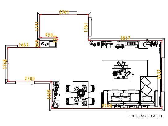 平面布置图乐维斯系列客餐厅G7475
