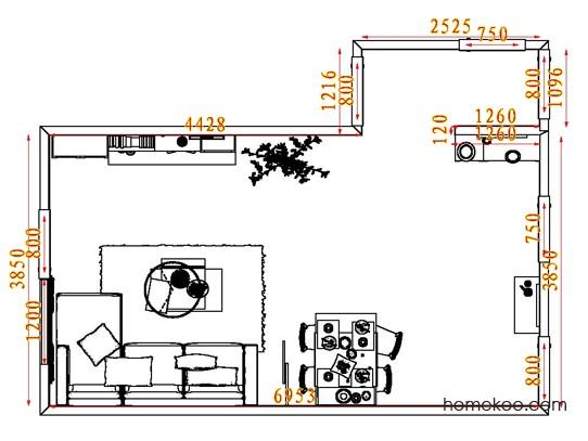 平面布置图德丽卡系列客餐厅G7477