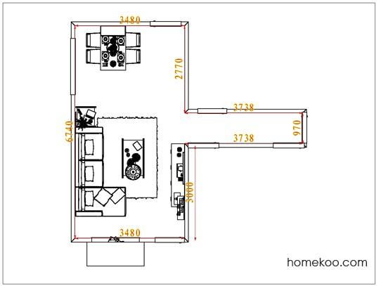 平面布置图斯玛特系列客餐厅G7483