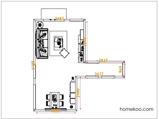 平面布置图柏俪兹系列客餐厅G7485