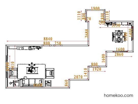 平面布置图格瑞丝系列客餐厅G7486