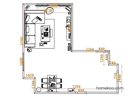 平面布置图格瑞丝系列客餐厅G7489