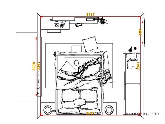 平面布置图乐维斯系列卧房A7407