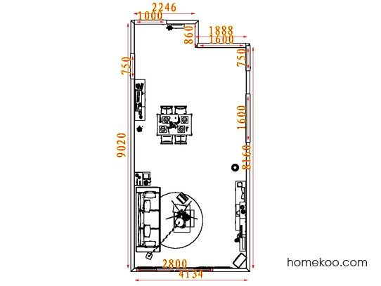 平面布置图贝斯特系列客餐厅G7494