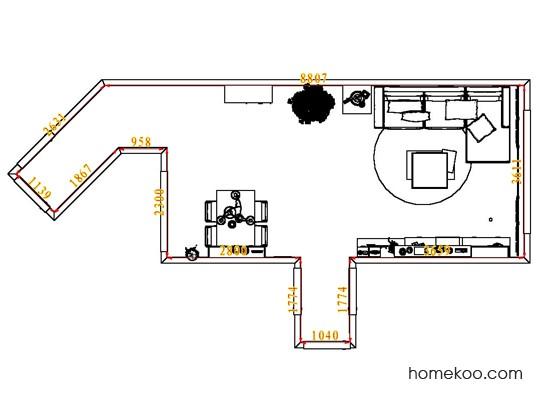 平面布置图斯玛特系列客餐厅G7507