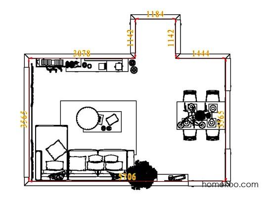 平面布置图贝斯特系列客餐厅G7508
