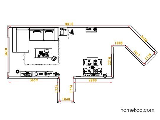 平面布置图德丽卡系列客餐厅G7518