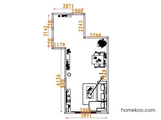 平面布置图斯玛特系列客餐厅G7523