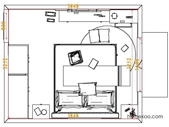 平面布置图乐维斯系列卧房A7450