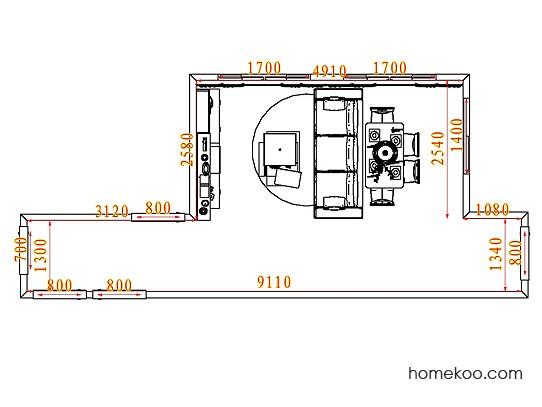 平面布置图德丽卡系列客餐厅G7547