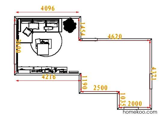平面布置图柏俪兹系列客厅D7114