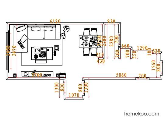 平面布置图乐维斯系列客餐厅G7553