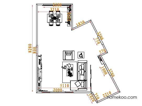 平面布置图贝斯特系列客餐厅G7556