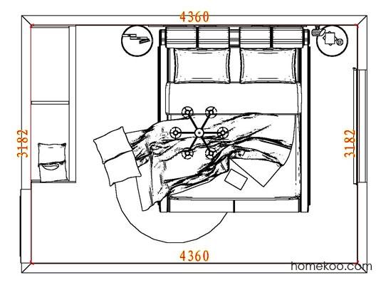 平面布置图乐维斯系列卧房A7517