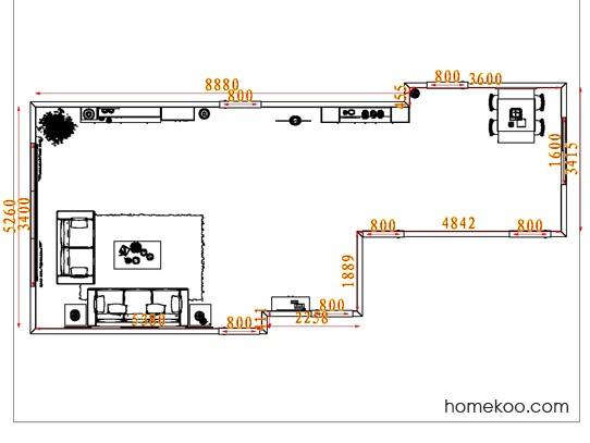 平面布置图德丽卡系列客餐厅G7562