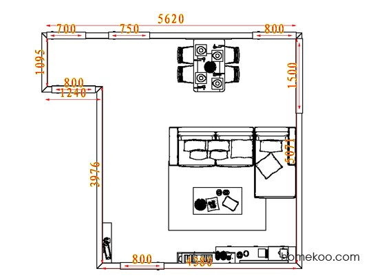 平面布置图乐维斯系列客餐厅G7563