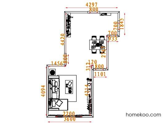 平面布置图斯玛特系列客餐厅G7564
