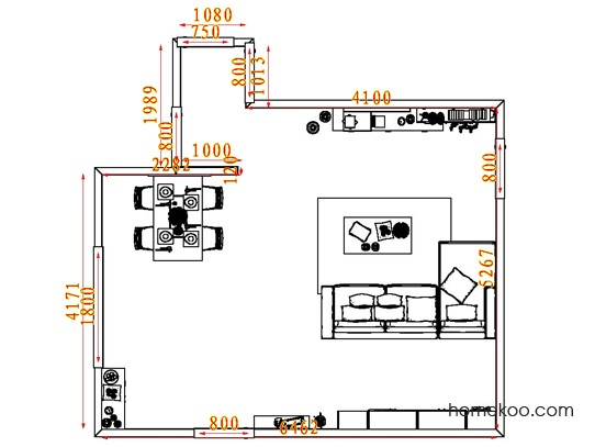 平面布置图柏俪兹系列客餐厅G7567