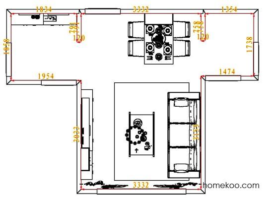 平面布置图斯玛特系列客餐厅G7575
