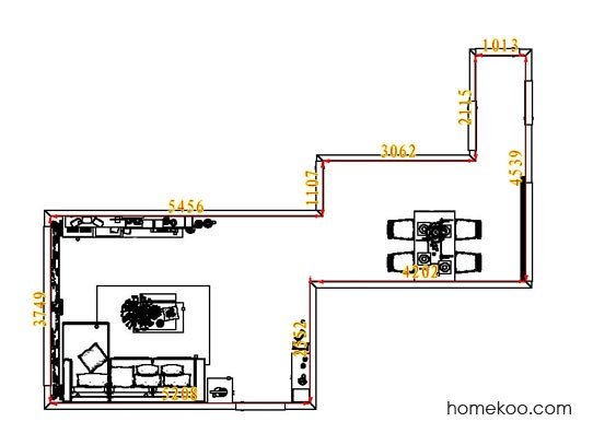 平面布置图贝斯特系列客餐厅G7576