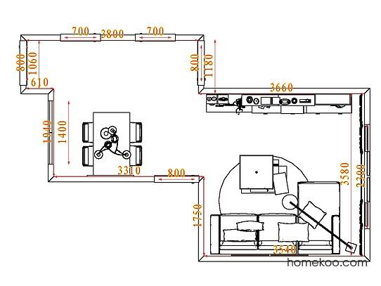 平面布置图德丽卡系列客餐厅G7577