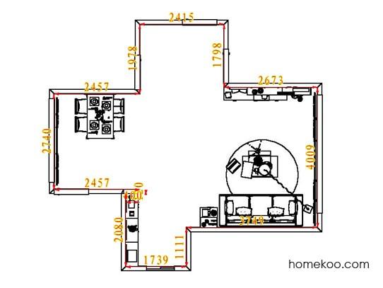 平面布置图斯玛特系列客餐厅G7581