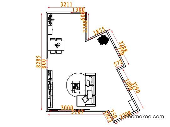 平面布置图乐维斯系列客餐厅G7584