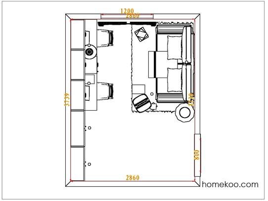 平面布置图贝斯特系列书房C4447