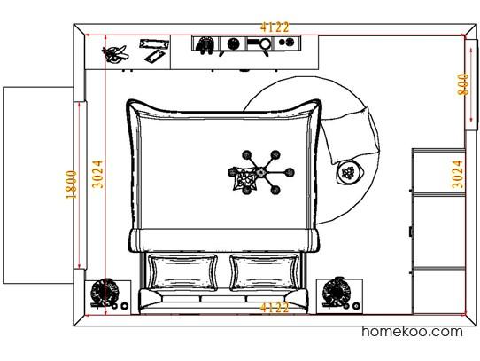 平面布置图贝斯特系列卧房A7601