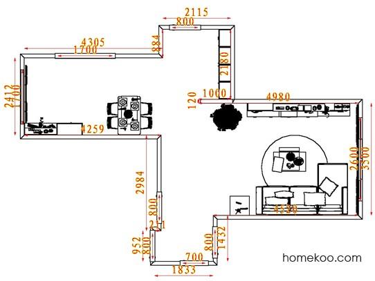 平面布置图贝斯特系列客餐厅G7608
