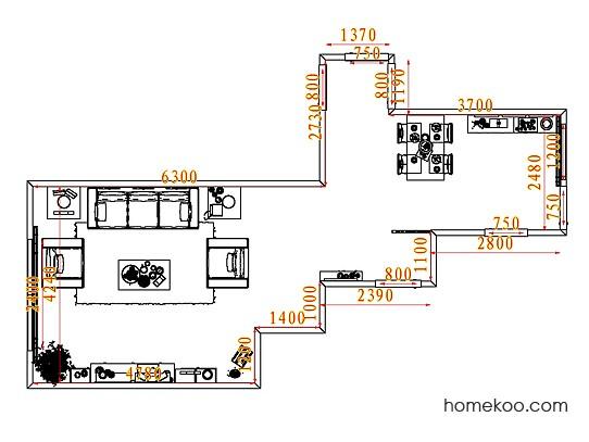 平面布置图格瑞丝系列客餐厅G7613