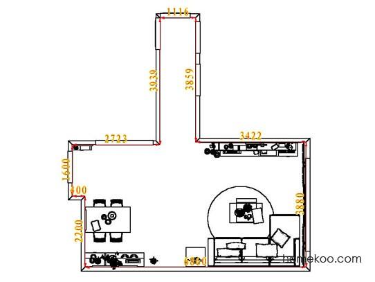 平面布置图斯玛特系列客餐厅G7621