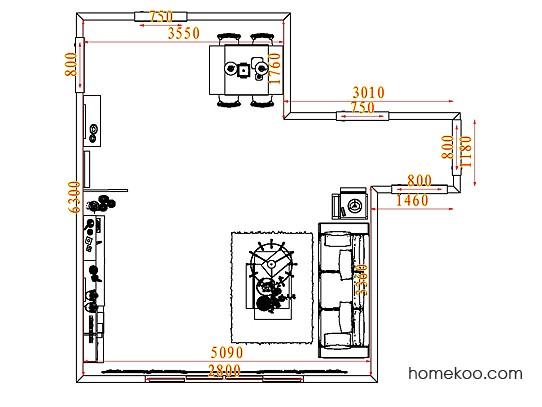 平面布置图斯玛特系列客餐厅G7624