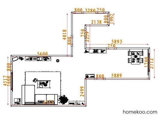 平面布置图柏俪兹系列客餐厅G7626