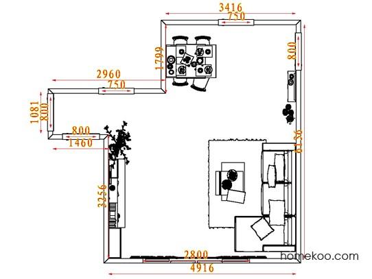 平面布置图贝斯特系列客餐厅G7630