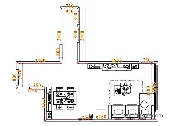 平面布置图乐维斯系列客餐厅G7634