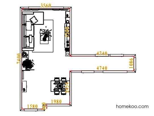平面布置图格瑞丝系列客餐厅G7636