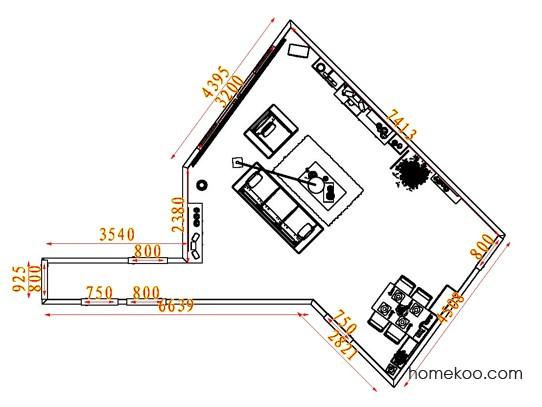 平面布置图贝斯特系列客餐厅G7644