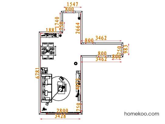 平面布置图德丽卡系列客餐厅G7646