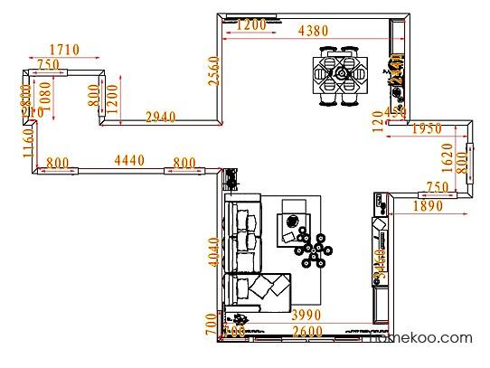 平面布置图德丽卡系列客餐厅G7650