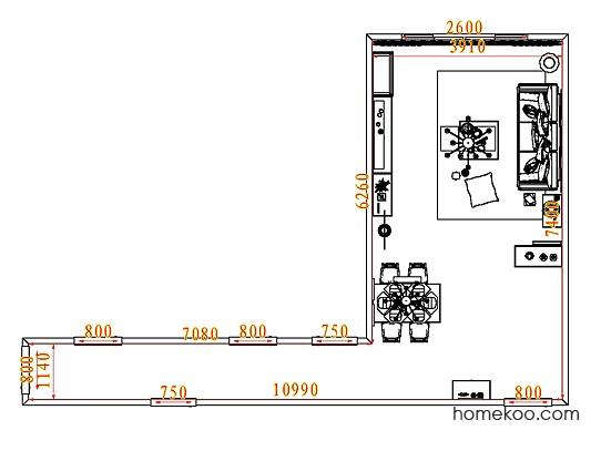 平面布置图乐维斯系列客餐厅G7651