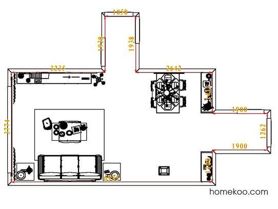 平面布置图柏俪兹系列客餐厅G7659