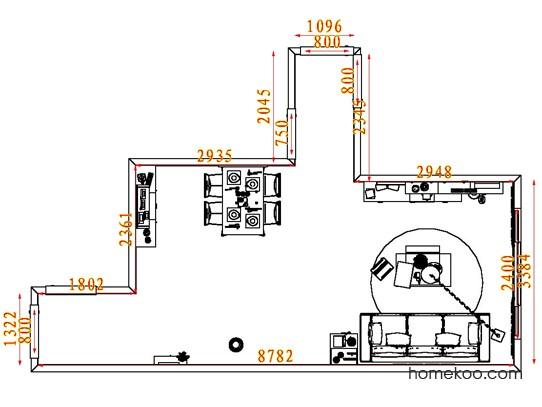 平面布置图格瑞丝系列客餐厅G7661